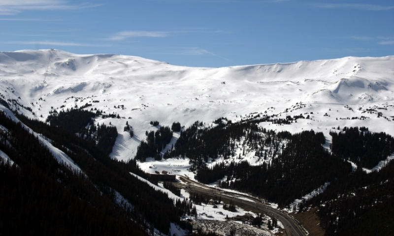 Eisenhower Tunnel along Loveland Pass