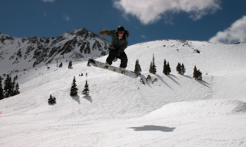 Snowboarder at Arapahoe Basin