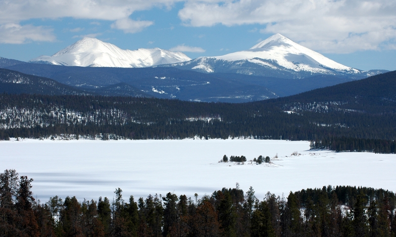 Snow Covered Lake Dillon
