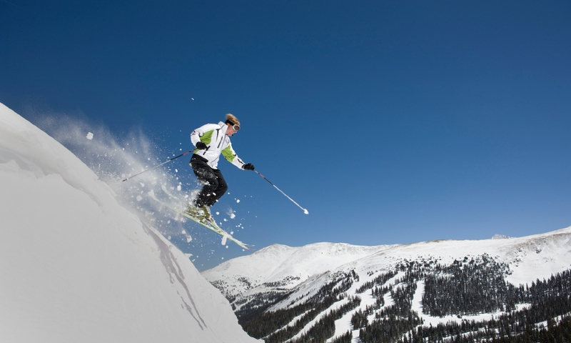 Skier at Loveland Pass