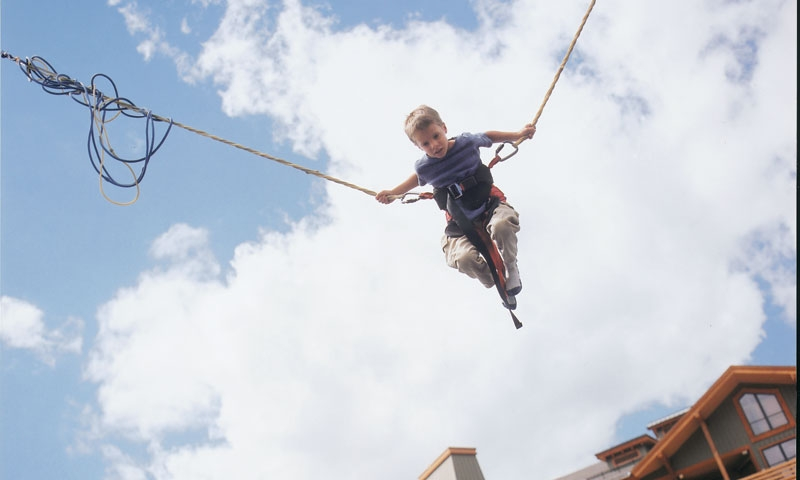 Boy on Bungee Jump at Copper Mountain