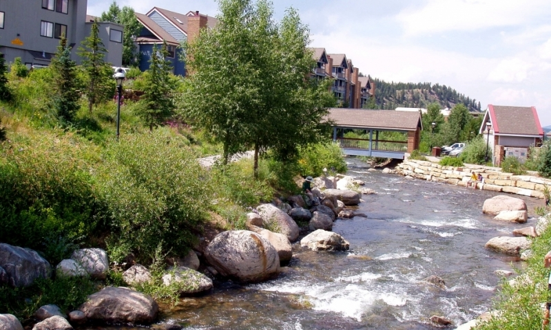 Blue River Bridge in Breckenridge