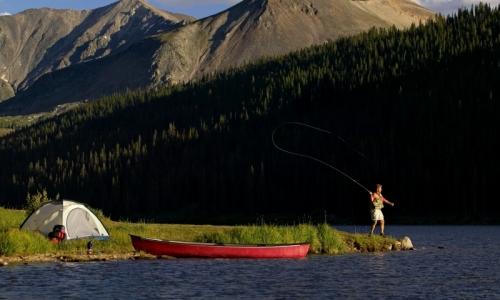 Breckenridge colorado lakes fishing camping boating for Fishing lakes in colorado