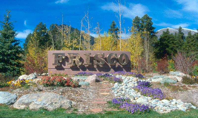 Town of Frisco welcome sign