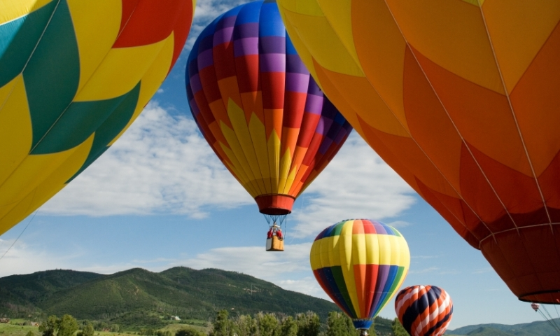 Hot Air Balloons over Steamboat