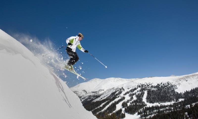 Skier at Loveland Pass