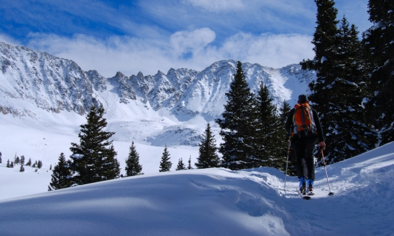 Backcountry Skiing in Mayflower Gulch