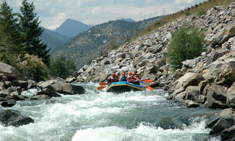 Rafting Clear Creek in Summit County Colorado